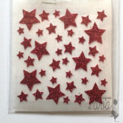 "Appliqué en flex thermocollant ""lot d'étoiles"""