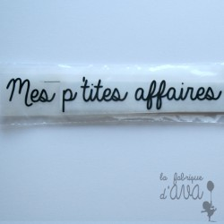 "Appliqué en flex thermocollant ""Mes p'tites affaires"""