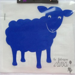 "Appliqué en flex thermocollant ""Mouton"""