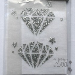 "Appliqué en flex thermocollant ""diamants"""