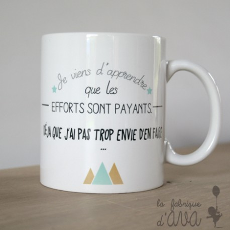 Mug efforts payants