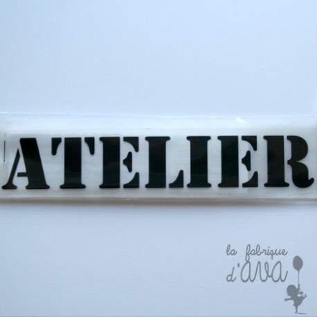 "Appliqué en flex thermocollant ""Atelier"""