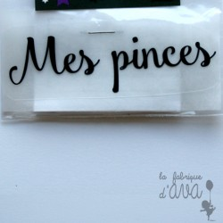"Appliqué en flex thermocollant ""Mes pinces"""