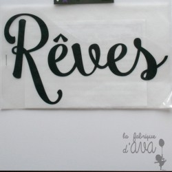 "Appliqué en flex thermocollant ""Rêves"""